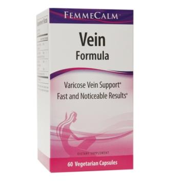 FemmeCalm Vein Formula, Vegetarian Capsules, 60 ea