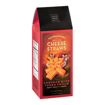 Salem Baking Co. Cheese Straws Cheddar with Three Chilis Petite