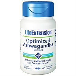 Life Extension Optimized Ashwagandha Extract - 60 Vegetarian Capsules