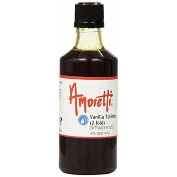 Amoretti Vanilla Tahitian Extract, 2 Fold, 4 Fluid Ounce