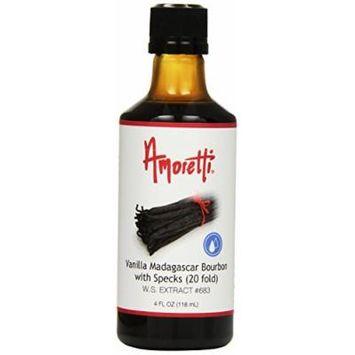 Amoretti Vanilla Extract Madagascar Bourbon with Specks (20 Fold), 4 Fluid Ounce