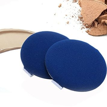 6 Pcs Wet and Dry Dual-Use Makeup Sponge Air Cushion Powder Puff for BB CC Cream Liquid Foundation Powder- Your Makeup Look Will More Natural(Blue)
