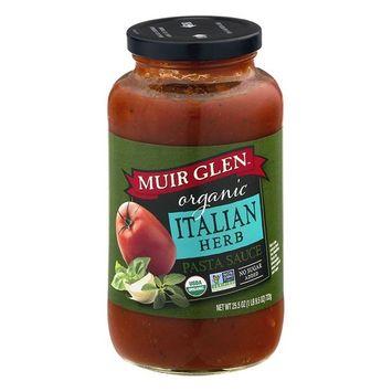 Muir Glen Organic Pasta Sauce, Italian Herb, No Sugar Added, 25.5 Ounce Glass Jar