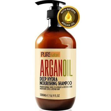 Moroccan Argan Oil Shampoo SLS Sulfate Free Organic - Best for Damaged, Dry, Curly or Frizzy Hair - Thickening for Fine/Thin Hair, Safe for Color and Keratin Treated Hair