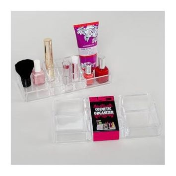 MAKEUP ORGANIZER TRAY MULTI- CAVITY CLEAR PS PRINTED SLEEVE, Case Pack of 18