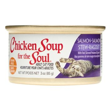 Chicken Soup For The Soul Grain Free Salmon Stew with Red Skinned Potatoes and Spinach Canned Cat Food