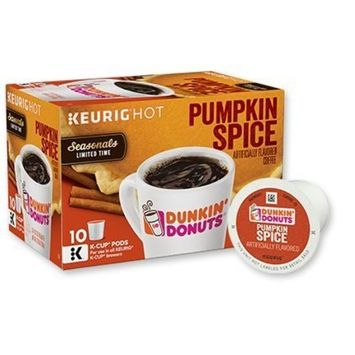 Dunkin Donuts Pumpkin Spice Limited Time Seasonals K-Cup Pods 3.70oz
