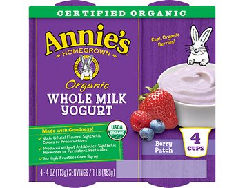 Annie's® Berry Patch Organic Whole Milk Yogurt