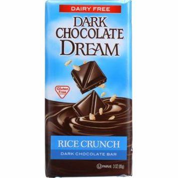 Dark Chocolate Dream Dark Chocolate Bar, Rice Crunch, 3 Oz (Pack Of 12)