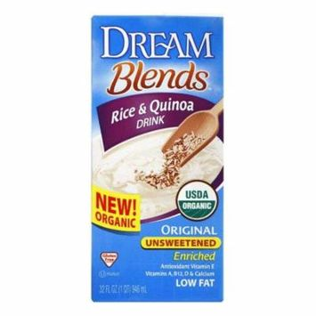 Dream Blends Unsweetened Original Rice & Quinoa Drink, 32 FO (Pack of 6)