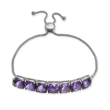 Amethyst (9-3/4 ct. t.w.) Bolo Bracelet in Sterling Silver