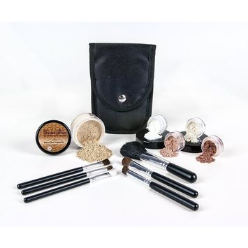 STARTER KIT with BRUSH SET (FAIR 1) Mineral Makeup Bare Skin Matte Foundation Cover