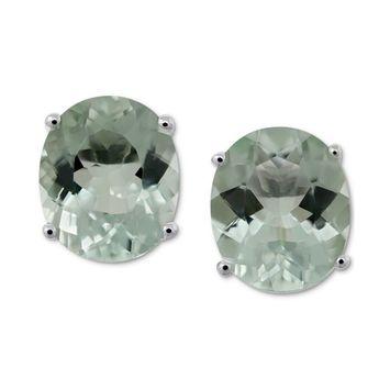 Green Quartz Stud Earrings (8 ct. t.w.) in Sterling Silver