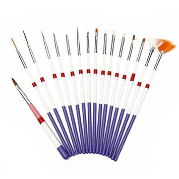 Nail Brushes Set,Vovotrade 16pcs Nail Polish Gel Art Paint Design Pen Tools Makeup