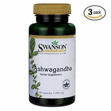 Swanson Premium Ashwagandha Powder 450 mg 100 Gelatin Caps (3)