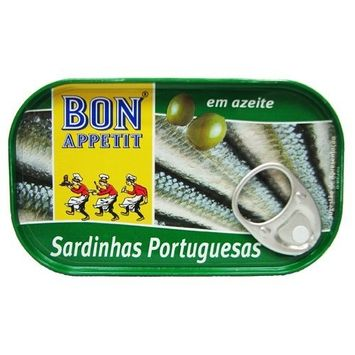 Bon Appetit Portuguese Sardines in Olive Oil 120 gram tin