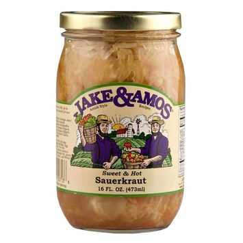 Jake & Amos Sweet & Hot Sauerkraut 16 oz. (3 Jars)