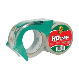 Duck Brand Packaging Tape, Clear w/ Dispenser, 1.88 x 55yd, 2 count