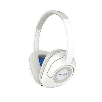 Koss Koss BT539iW Wireless Bluetooth Over-Ear Headphones, Mic, Volume Control - White