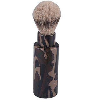 CSB Luxury Silvertip Travel Shaving Brush with Camouflage Handle Turn Back Shaving Brush