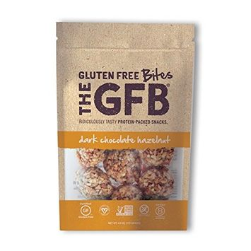 The GFB Protein Bites, Dark Chocolate Hazelnut, 4 Ounce (Pack of 6), Gluten Free, Non GMO