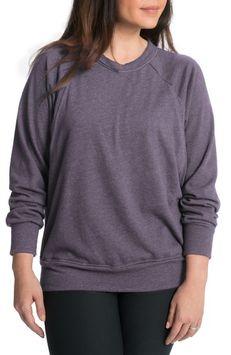 Women's Bun Maternity Relaxed Daily Maternity/nursing Sweatshirt, Size Large - Grey