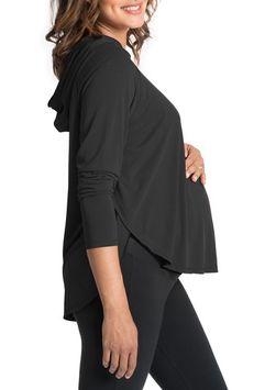 Women's Bun Maternity So Soft Maternity/nursing Hoodie, Size Large - Black