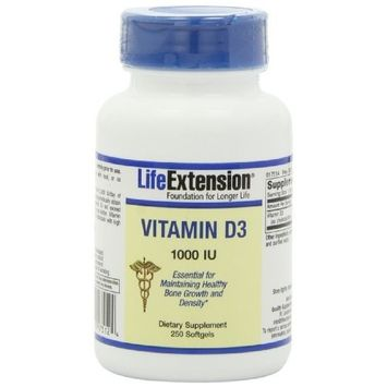 Life Extension Vitamin D3 1000 IU 250 Softgels