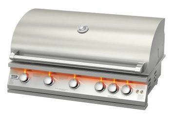 Broil Chef 40 Built-In Gas Grill with Orange Led - LP/NG