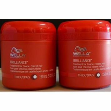 Wella Brilliance Treatment for Coarse Colored Hair 5.07oz 2 pack