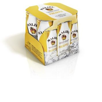 Malibu Coconut & Pineapple Caribbean Rum Mix - 4pk/6.8 fl oz