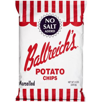 Ballreich's Ballreich?s No Salt Added Marcelled Potato Chips, 8 oz