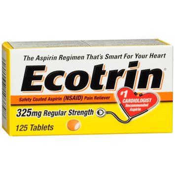 Ecotrin Regular Strength Safety Coated Aspirin Tablets