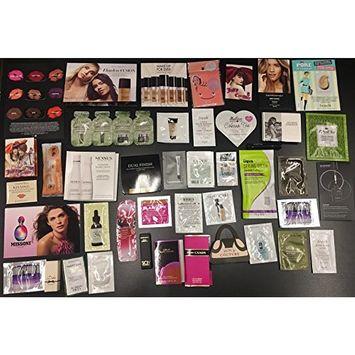 50 pc designer brand name skincare sample lot with make up bag and sample jar