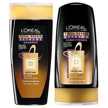 L'Oreal Total Repair Extreme Shampoo and Conditioner Set, 25.4 Ounce Each