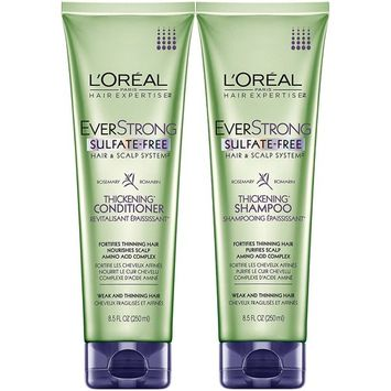 L'Oreal Paris EverStrong Thickening, DUO set Shampoo + Conditioner, 8.5 Ounce