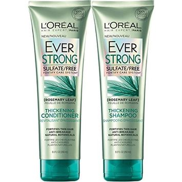 L'Oreal Paris EverStrong Thickening Bundle: Shampoo & Conditioner, 8.5 Ounce Each