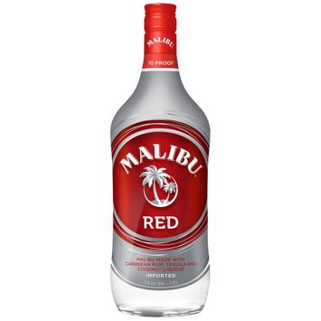 Malibu Rum Caribbean Red 1.75L Bottle