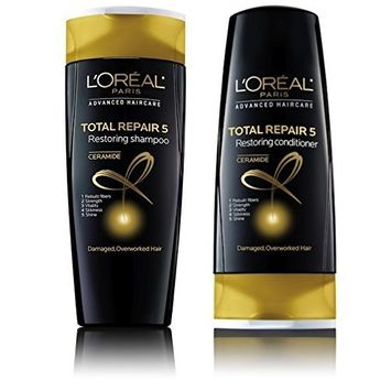 L'oreal Paris Advanced Haircare Total Repair 5 Restoring Shampoo and Conditioner (2 Pack)