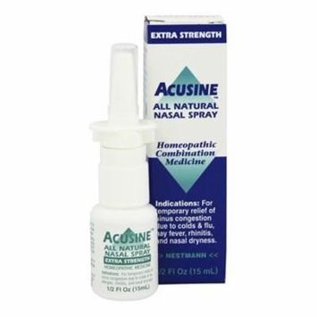 Nasal Spray All Natural Extra Strength - 0.5 fl. oz. by Acusine (pack of 4)