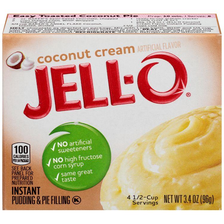 Jell-O Coconut Cream Instant Pudding & Pie Filling