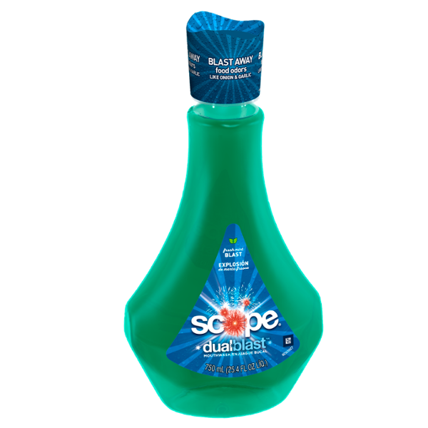 Scope DualBlast Mouthwash Fresh Mint Blast 750 mL