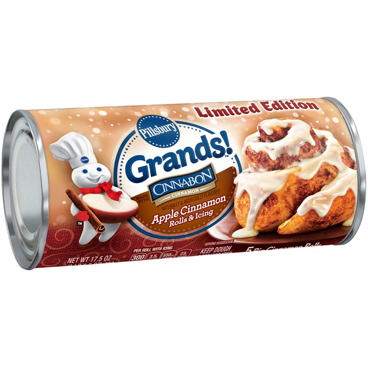 Pillsbury Grands!™ Limited Edition Apple Cinnamon Rolls & Icing 5 ct Can