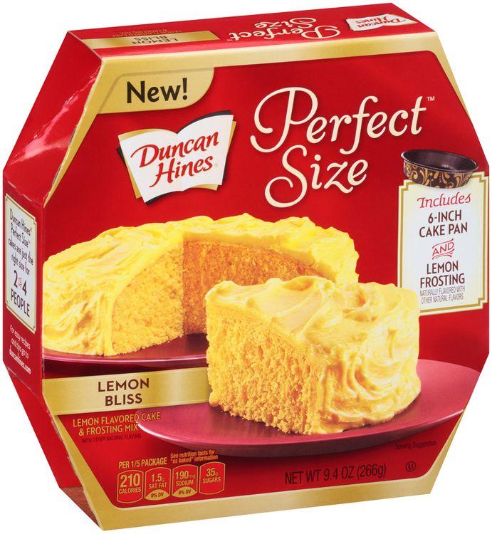 Duncan Hines® Perfect Size™ Lemon Bliss Cake Mix &