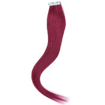 Mario Hair Tape In Human Hair Extensions Silky Straight Skin Weft Human Remy Hair (22 inches, Bug)