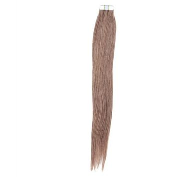 Mario Hair Tape In Human Hair Extensions Brown Silky Straight Skin Weft Human Remy Hair (24 inches, #6)