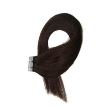 Mario Hair Tape In Human Hair Extensions Silky Straight Skin Weft Human Remy Hair (22 inches, #99j)