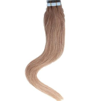 Mario Hair Tape In Human Hair Extensions Silky Straight Skin Weft Human Remy Hair (16 inches, #16)