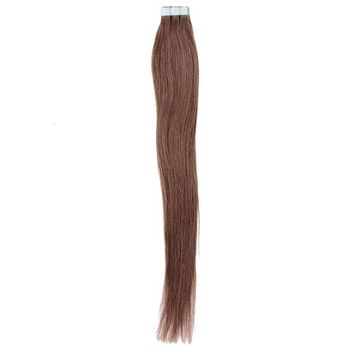 Mario Hair Tape In Human Hair Extensions Silky Straight Skin Weft Human Remy Hair (22 inches, #4)