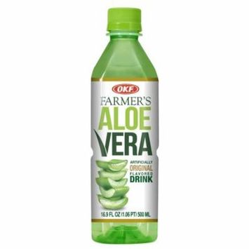 OKF Farmer's Aloe Vera Drink, Original, 16.9 Fluid Ounce (Pack of 12)